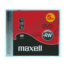 DVD-RW Maxell Caja 5 2X 4.7GB M175