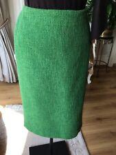 LK Bennett green knee length pencil skirt 10