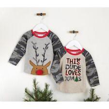 Mud Pie H8 Toddler Boy Camo Christmas T-Shirt 15100028 Choose