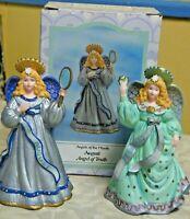 2 Novelino Angel Figurines February & August, 1983 IOB