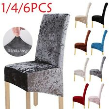 Crushed Velvet Dining Chair Covers Stretchable Protective Slipcover Home Decor