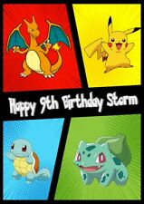 Personalised Pokemon Birthday Card- Game, Cards, Brother, Sister, Freind, ect