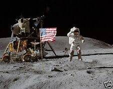 Apollo 16 Moon Landing John Young American Flag NASA 11 x 14 Photo Picture