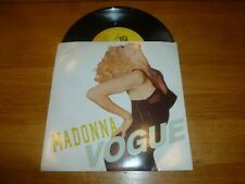 "MADONNA - Vogue - 1990 UK Sire label 2-track 7"" Vinyl Single"