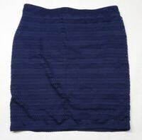 Old Navy Women's Size Large Navy Blue Eyelet Elastic Waist Straight Skirt