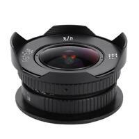 8mm F3.8 Fish-eye Lens for Micro 4/3 MFT M4/3 E-PL7 Full Frame w/ Lens Cap BS