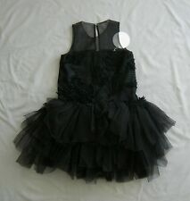 NWT MISCHKA AOKI THE BLACK SWAN DRESS 7 - 8 yrs SZ 8 GIRLS COUTURE HTF