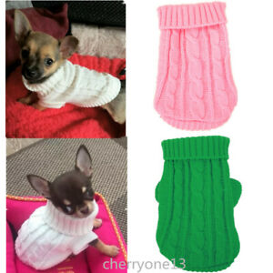 XS Small yorkie Dog Clothes Knit Sweater Winter Hoodie Coat for chihuahua Teacup