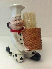 3D Italian Fat Chef Toothpick holder kitchen decor bar home set nice gift   F s