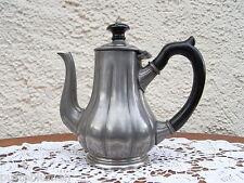 """"""" Eduard Hueck """" Art Nouveau Kaffee Tee Kanne versilbert 1900 Jugendstil"""