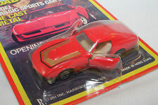 Yatming, Road Champs, 1970's Corvette, Opening Doors, Red, Mint on Card