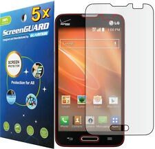 5x Clear LCD Screen Protector LG Optimus Exceed II 2 US450  / LG REALM LS620