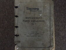 1961 Triumph Tiger Cub Replactment Parts Catalog No. 7 Manual FACTORY OEM BOOK