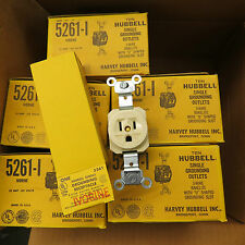 Hubbell 5261-I Single Outlets Ivorine - Ivory, 15 amp 125 volts, box of 50