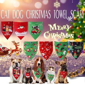 Christmas Pet Dog Bandana Dog Bibs Towel Puppy Triangle Scarf Costume