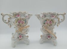 """New listing Antique Hand-painted French Style Porcelain Teapot Vases """"Camille Naudot"""""""