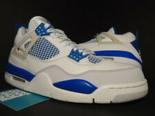 06 NIKE AIR JORDAN IV 4 RETRO WHITE MILITARY BLUE CEMENT GREY OG 308497-141 8.5