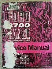 FORD 2700 RANGE 4 & 6 CYLINDER ENGINE SERVICE MANUAL