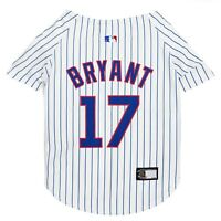 Kris Bryant #17 Chicago Cubs MLBPA Officially Licensed Pinstripe Dog Jersey