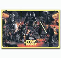 W836 Star Wars Movie The Empire Strikes Back Darth Vader Film Poster Silk Art