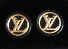 "Louis Vuitton Cufflinks 23mm 15/16"" Classy Black & Gold"