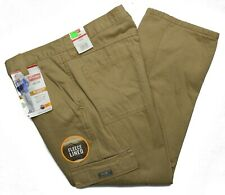 Wrangler #10087 NEW Men's Relaxed Fit Fleece Lined Cargo Pants