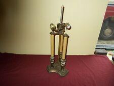 VINTAGE 2-SOCKET COLUMN CANDLESTICK LAMP HEAVEY METAL BASE TABLE DESK BOUILLOTTE