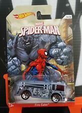 """HOT WHEELS SPIDER-MAN """" FIRE-EATER """" 06/08 ** BAD CARD **"""