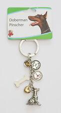 Doberman Pinscher Key Chain - Pewter - Little Gifts