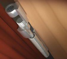 LOT: 3x NEW Doorsaver II Hinge Pin Door Stop 01274 Finish Pewter / Satin Nickel