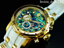 Invicta Men's 48mm Scuba Pro Diver Chronograph ABALONE Dial SS Gold Tone Watch