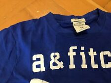 Abercrombie and Fitch Blue Kids T shirt size M Age 9-10