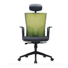 SIDIZ Tab Mesh Office Chair Green Adjustable Headrest Tilting Gas Type