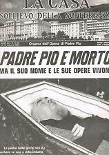 PADRE PIO E' MORTO - NUMERO SPECIALE del 1968