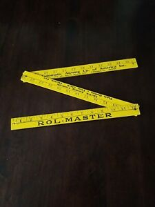 Vintage Advertising Folding Yardstick Rol-Master Automatic Awning Chicago IL