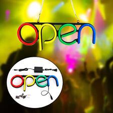 Open Neon Sign Led Tube Visual Artwork Sign shop home Decor Light wall art Pvc