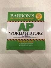 Barron's AP World History Flashcard Study Deck