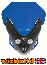Motorbike Twin Lights Spectre Fairing Headlight With Fixings Blue HLUSPEBU