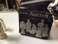 7 Piece Set Porcelain Nativity Scene