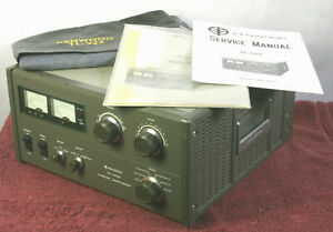 KENWOOD TL-922 Ham Radio HF Linear Amplifier w/ Cover, Owner & Service Manuals