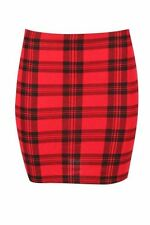 Unbranded Viscose Check Plus Size Skirts for Women