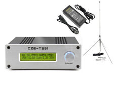 Professional CZH-T251 25W FM transmitter stereo broadcast adjustable +GP Antenna