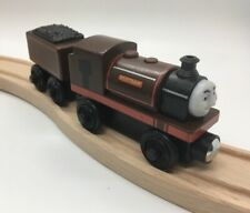 Thomas Wooden Railway Bertram with Tender Train Set Engine Coal Car Brown Toy