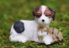 Miniature Garden Furry Friends Dog with Cat   Dollhouse Fairy Faerie WS 1425