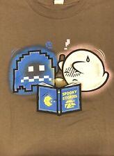 Super Mario Boo PacMan Spooky Halloween Nerd Block T-Shirt EXCLUSIVE 2XL XXL