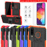 For Samsung Galaxy A50 Shockproof Hybrid Kickstand Case with Screen Protector