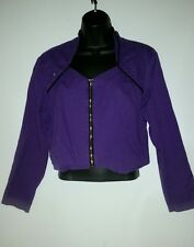 BANJO Purple Bolero jacket with silver stars, zipper front
