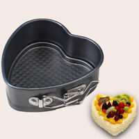Heart Shaped Cake Tin Non-stick Spring Form Loose Baking Pan Tray Kitchen Tool