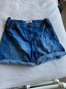 Denim Maternity Shorts 18