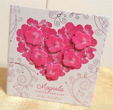 CST COMMONWEALTH Magnolia Pink Heart Floral BATH BAR SOAP 7.7 OZ *Mix and Match